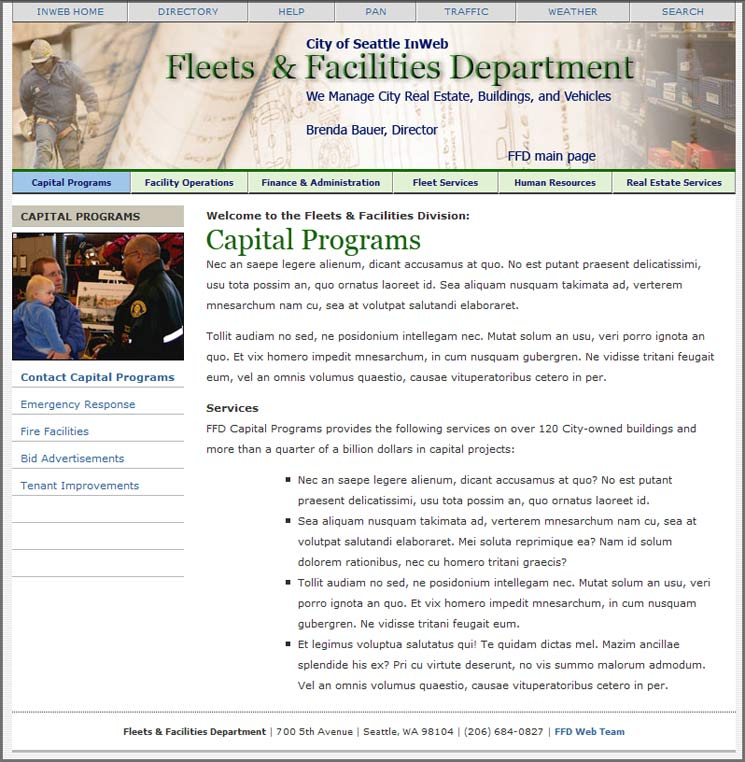 City of Seattle FFD Intranet